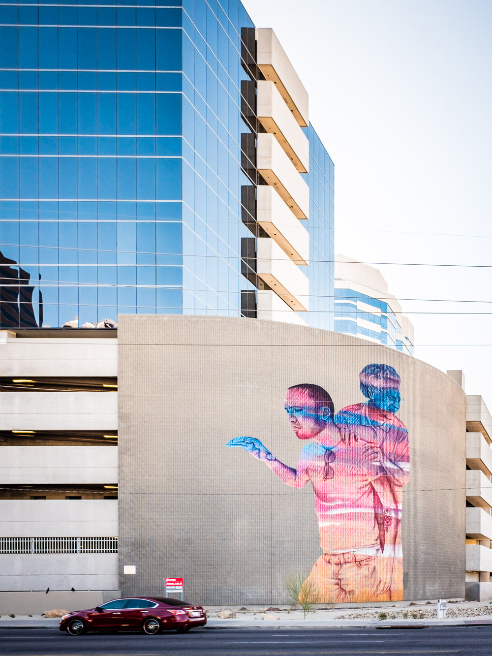 A mural on a building at 1st Avenue and Thomas.